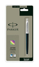 NEW GENUINE PARKER JOTTER STANDARD BALLPOINT PEN BLACK BODY,STAINLESS STEEL GIFT