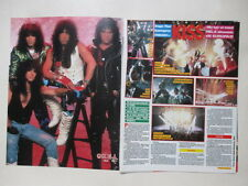 Kiss Michael Jackson Elizabeth Taylor Tommy Lee Motley clippings Sweden 1980s