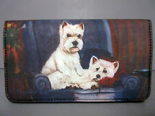 New West Highland White Terrier Westie Dog Check Book Wallet Ruth Maystead