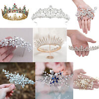 Wedding Hair Clips Crystal Bridal Comb Jewelry Tiaras Crown For Women Prom Bride