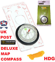 HIGHLANDER DELUXE MAP READING COMPASS ORIENTEERING NECK TACTICAL SURVIVAL DofE