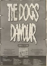 21/10/89Pgn10 Advert: 'the Dogs Damour' Errol Flynn The Album 15x11 FRAMED