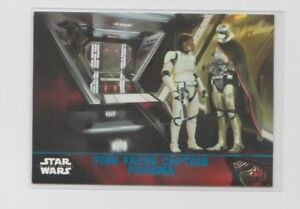 Star Wars The Force Awakens Series 1 Trading Card Blue Parallel #66