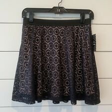 New listing New Disney Minnie Mouse Rock The Dots Womens Black Lace Mini Skirt (Medium)