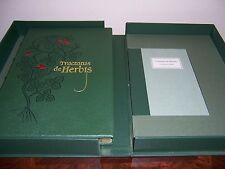 Folio Society TRACTATUS DE HERBIS with Companion Volume by Minta Collins