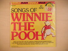 SEALED Wonderland Records Songs of WINNIE THE POOH Double Play 45rpm 70s
