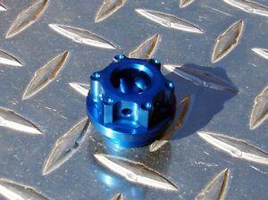 Blue Triumph Oil Cap - 675 675R Street 660 T595 955i Sprint 1050 Speed Triple