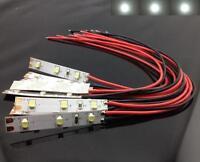 S534 - 10 Stück LED Hausbeleuchtung mit Kabel weiß 8-16V Beleuchtung Häuser
