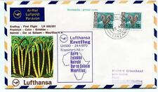 FFC 1970 Lufthansa First Flight LH 590 Frankfurt Cairo Entebbe Nairobi Mauritius