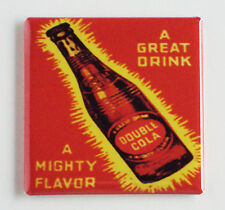 Double Cola FRIDGE MAGNET (3 x 3 inches) soda sign bottle cola