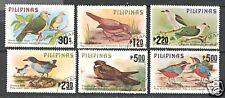 BIRDS ON PHILIPPINES 1979 Scott 1392-1397 VERY FINE USED