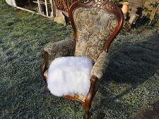 Sitzkissen Sitzunterlage Lammfell/Schaffell Weiß ca. 50x50 cm Natur, Stuhlkissen