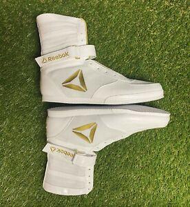 NEW UFC Reebok Training Boxing Boot Buck Mens Size 12 White Gold CN5080 #965