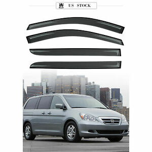 Window Visor Sun Rain Guards Dark Smoke, 4-Piece Set for 05-07 HONDA ODYSSEY