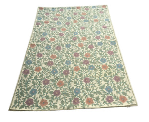 Vintage Aubusson Style Handmade Area Rug For Any Room Chain Stitch Carpet 4x6