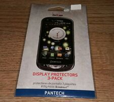 Display Protectors 3 Pack Fits Para Pantech Breakout Verizon Wireless Cellphone