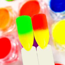 8Boxes/set Neon Phosphor Nail Art Pigment Powder Glitter Manicure Decor Tips Kit
