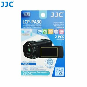 """JJC LCP-PA30 Film Screen Display Protector for Panasonic 3.0"""" LCD Camcorders x2"""