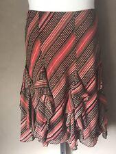 Lauren Ralph Lauren Skirt Georgette Ruffled Lined Plus Size 2X