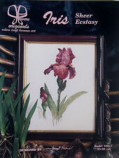 Vintage '98 Iris Sheer Ecstasy CROSS STITCH - SIGNED by JANET POWERS