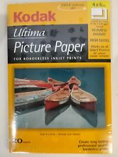 KODAK Ultima Picture Paper 4x6 Borderless 20 Sheets High Gloss 71lb 10mil
