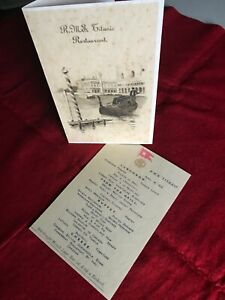 NEW ITEM, NEVER SEEN RMS Titanic Menu cover with Menu! You get both items! RP