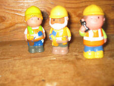 EARLY LEARNING CENTRE ELC  HAPPYLAND STAND X3 WORKMEN PLAYFIGURES PHONE OLD MAN