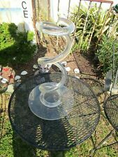 RARE Mid Century Modern Lucite Coil Spring Umbrella Holder Stand With Base