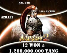 Metin2 Azrael - 12 Won (1.2kkk Yang) - Blitzübergabe ⚡ Paypal 👍