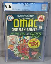 OMAC #2 (Jack Kirby story, cover art) CGC 9.6 NM+ White Pages DC Comics 1974