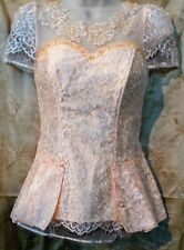Cambodian/Khmer Lace Blouse (Peach)