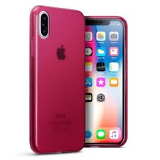 Apple iPhone X/XS TPU Gel Silicone Rubber Slim Thin Jelly Cover Case in Red