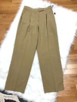 New Liz Claiborne High Waist Dress Pants 10P Beige Stain Resistant Career $79