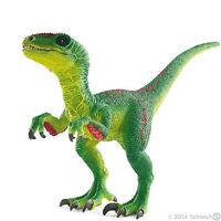 NEW Schleich 14530 Green Velociraptor Dinosaur - Movable Jaw & Arms Dino RETIRED