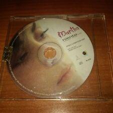 CDs PROMO MARTHA NIENTE LUNAPIENA ITALY PS 2003 UNA TRACCIA
