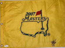 SIGNED ZACH JOHNSON autographed 2007 MASTERS GOLF FLAG COA JSA S76734