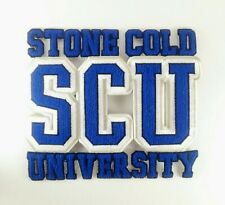 "Stone Cold University SCU Iron On Logo Decal Patch 10""x 8 1/2"
