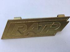 RATP Insigne plaque vintage métal métro RER TRANSPORT PARIS