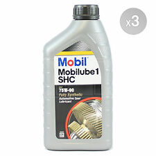 Mobil Mobilube 1 SHC 75W-90 Fully Synthetic Gear Oil 75W90 3 x 1 Litres 3L