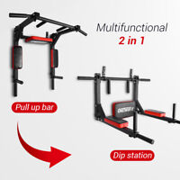 OneTwoFit Multifunction Pull up Bar Chin up Station Wall Mounted Training OT126