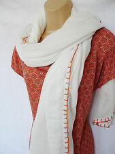 BNWT NEXT orange coral print dippy hem relaxed summer top & scarf set size 12/14