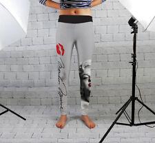 Leggings de fitness gris pour femme