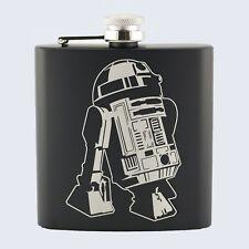 R2D2, R2-D2, Star Wars Inspired, 6oz Drinks Beverage Hip Flask