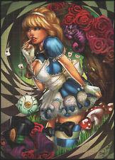 Naughty Alice blotter ART Sarah Giardina e ULA MOS LOOKING Glass paese delle meraviglie