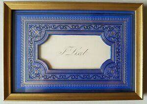 FRANZ LISZT Original Visitenkarte, eigenhändiger Text + Signatur, Galerierahmen