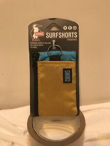 Chums Surfshorts Wallet | Mustard Horizon Blue