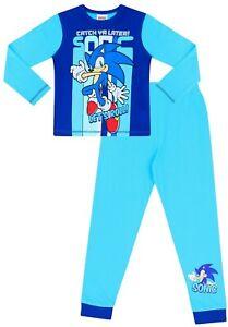 Sonic The Hedgehog Catch Ya Later Long Blue Pyjamas