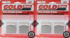 HONDA TRX 400 EX SPORTRAX 2001-2006 SINTERED FRONT BRAKE PADS (2xSETS) GOLDFREN