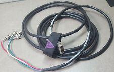 Avid Component Video Cable 0070-00227-01 Rev 2 Cord. 10 PINS to 4 BNC. (15 ft lo