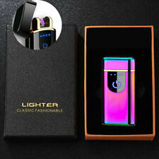 Electric Dual Arc Plasma Cigarette Lighter Usb Rechargeable Windproof Flameless